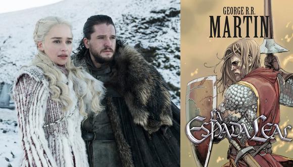 """A la izquierda, Daenerys Targaryen (Emilia Clarke) y Jon Snow (Kit Harington) en la última temporada de """"Game of Thrones"""". A la derecha, Sir Duncan el Alto; protagonista de los cuentos de Dunk y Egg, precuela de la saga principal que se convertirá en serie de TV. Fotos: HBO/ Debolsillo."""