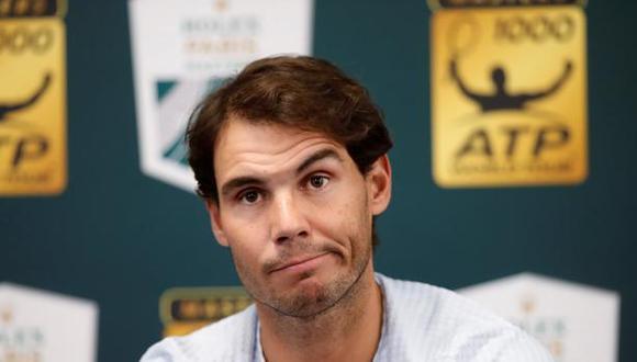 """Rafael Nadal se retiró del torneo de París-Bercy por una lesión abdominal antes de enfrentar a su compatriota. """"El médico me ha recomendado no jugar"""", aseveró. (Foto: Reuters)"""