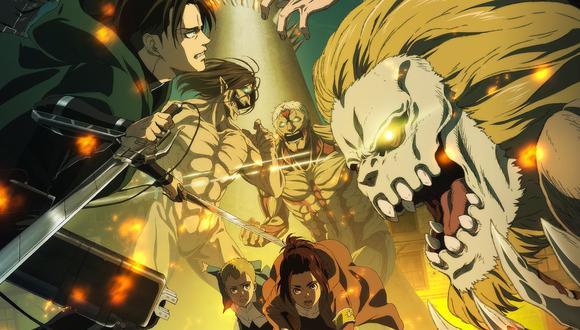 "Detalle del póster oficial de ""Attack on Titan"" (""Shingeki no Kyojin"") temporada final. Foto: Crunchyroll."