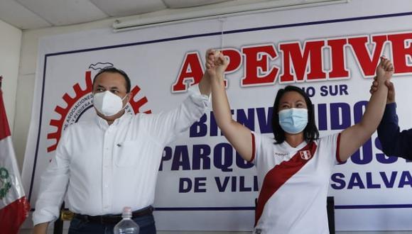 Keiko Fujimori presentó a exministra Carranza como parte de su equipo (Foto: Hugo Pérez)