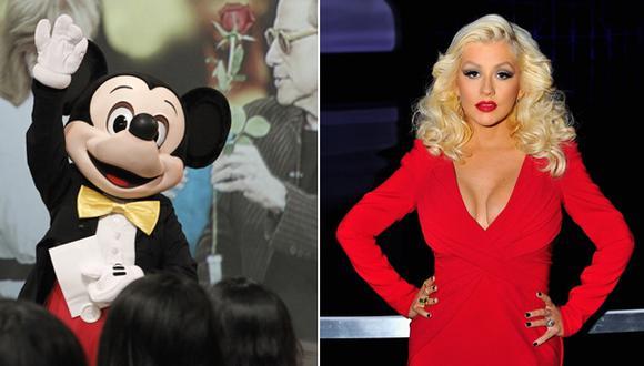 Christina Aguilera se peleó con Mickey Mouse en Disneylandia