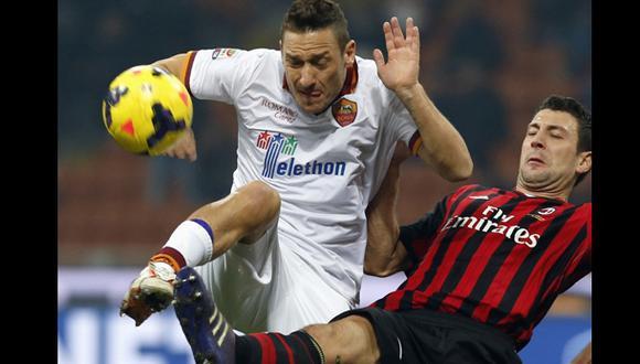 AS Roma igualó 0-0 con el AC Milan por la Serie A
