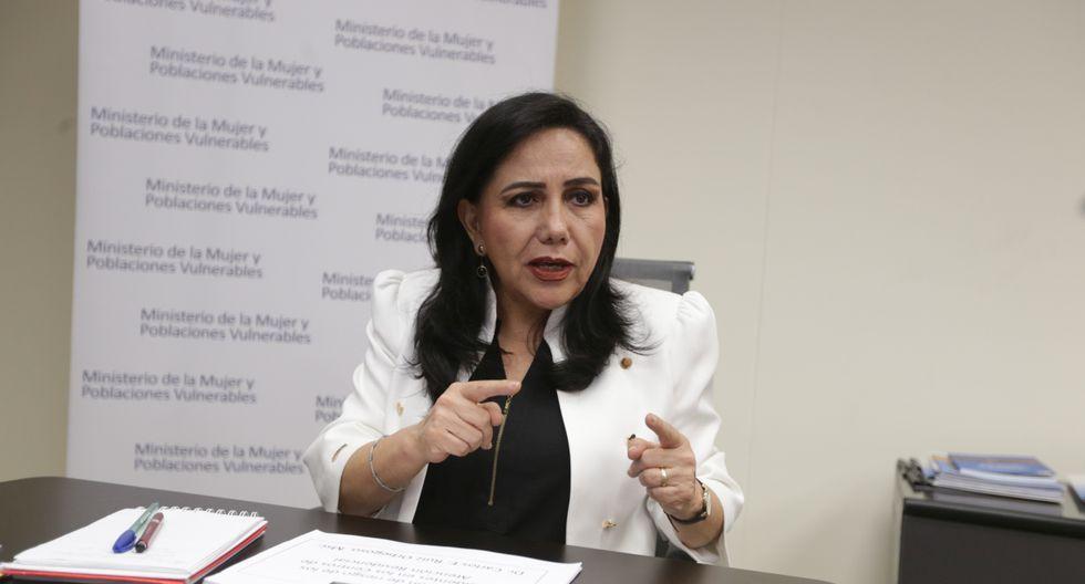 Gloria Montenegro, titular del MIMP, es una de las integrantes del Gabinete citadas para sesiones virtuales de comisiones del Congreso. (Foto: GEC).
