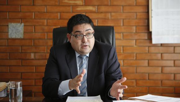 """""""Nosotros nos enteramos de la intención de la empresa Odebrecht de demandar al Estado peruano antes de Navidad"""", detalló Jorge Ramírez. (Foto: GEC)"""