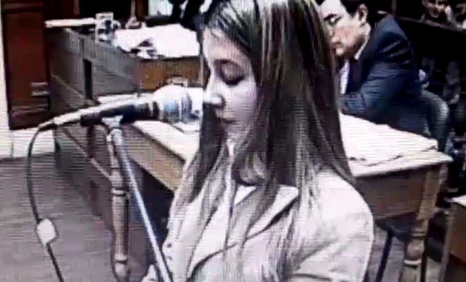 Nahir Galarza declaró ante un tribunal de Gualeguaychú. (Captura de video)
