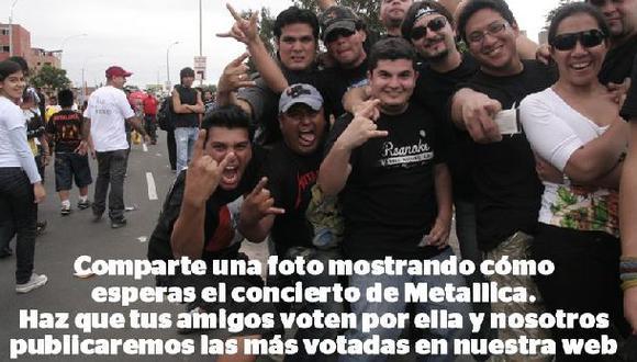 ¿Cómo esperas a Metallica en Lima? Comparte tu selfie