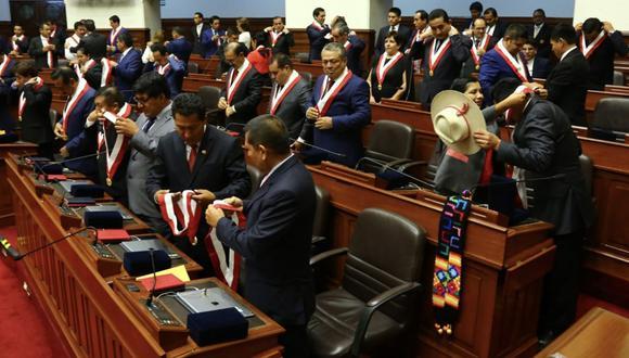 Juramentación del nuevo Congreso fue a puertas cerradas. (Foto: Andina)