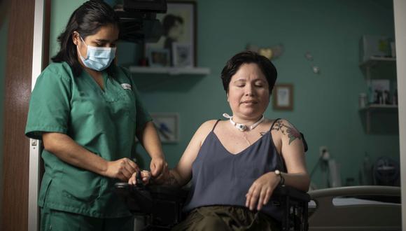 Ana Estrada  sufre de una enfermedad degenerativa e irreversible podrá manifestar el momento o fecha de poner fin a su vida. (Elías Alfageme)