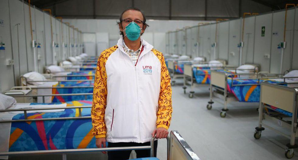 Alberto Valenzuela y su equipo fueron los encargados de construir 5 hospitales temporales en Lima para mejorar la demanda de camas para pacientes COVID-19. (Hugo Curotto / GEC)