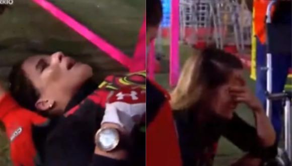 Alejandra Baigorria se lesiona a pocos días de la semifinal. (Foto: Captura América TV).