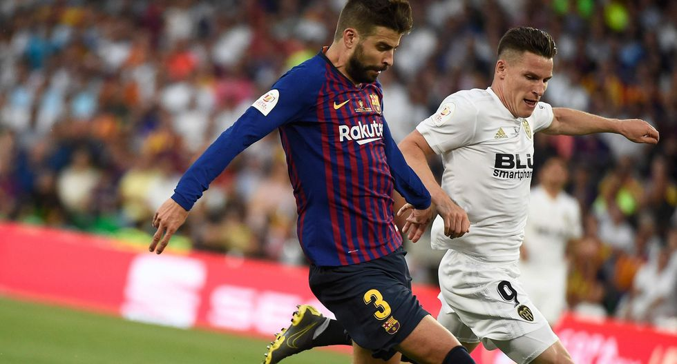 Barcelona vs. Valencia: el colosal esfuerzo de Piqué en la línea que evitó el 1-0 en Copa del Rey | VIDEO. (Foto: AFP)