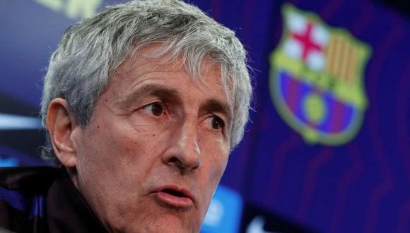 Quique Setién reconoció el encuentro con Pep Guardiola. (Foto: AFP)