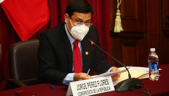 Congresista Jorge Pérez era parte del grupo de trabajo. (Foto: Facebook del legislador Pérez)