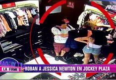 Roban a Jessica Newton en conocido centro comercial | VIDEO