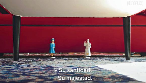 """Un ejercicio de 'stop motion' casero permite unir en conversación al papa Francisco y a la reina Isabel, en uno de los cortometrajes de """"Homemade""""."""