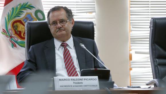 Marco Falconí es candidato a presidir Comisión Belaunde Lossio