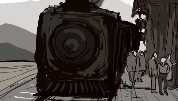 """""""Hoy las cosas se pasan de la raya y para recorrer 15 kilómetros ese tren ha demorado, en más de una oportunidad, tres horas"""". (Ilustración: Giovanni Tazza)."""
