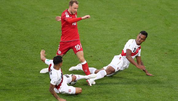 Eriksen fue una de las figura de Dinamarca en esa victoria en la que Perú hizo más. El 10 dio el pase gol a Poulsen. (Foto: EFE)