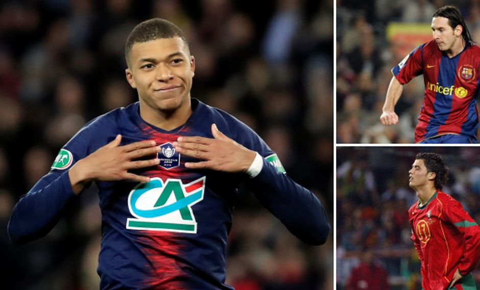 El delantero francés Kylian Mbappé tiene mejores estadísticas que el argentino Lionel Messi y el portugués Cristiano Ronaldo cuando tenían 20 años de edad. (Fotos: Reuters, AP, AFP)