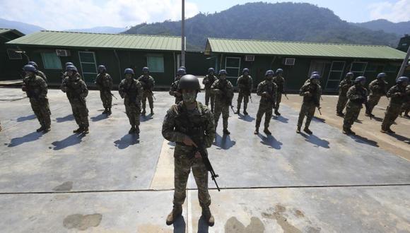 Miembros de las fuerzas armadas se han organizado en más de 500 patrullas que serán desplazadas a los distintos puntos del Vraem.  (Giancarlo Ávila/ @photo.gec.)