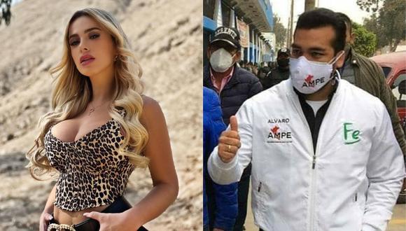 Álvaro Paz de la Barra y su reacción al ser consultado sobre Jamila Dahabreh. (Foto: @jamiladahabreh/@apblamolina).