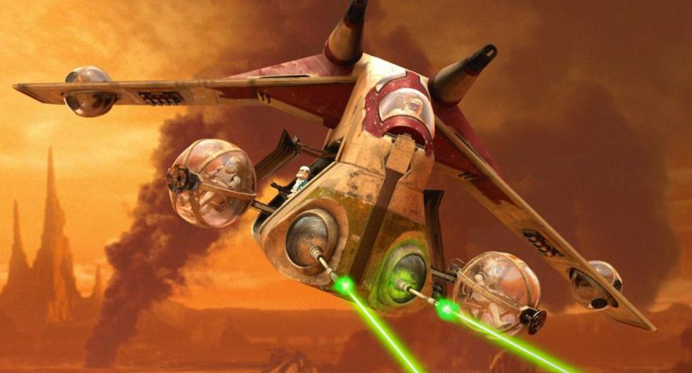 Republic Attack Gunship. Estas naves de la República son el soporte ideal aéreo en cualquier batalla. Son ideales para el transporte de clones como se ve en el Episodio II.