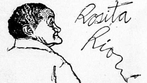Ilustración de la reina de la cocina criolla, Rosita Ríos, publicada por El Comercio dos días después de su muerte, el 6 de julio de 1966. (Foto: Archivo Histórico El Comercio)