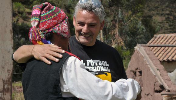 Roberto Baggio visitó el Perú en el año 2010 como embajador de la FAO. (Foto: AFP)