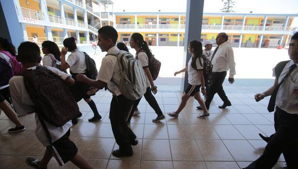 El inicio de clases en las instituciones educativas públicas estaba previsto para el lunes 16 de marzo. (Foto: GEC)