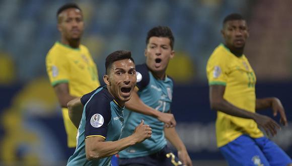 Ángel Mena anotó el gol del empate ante Brasil y el que logró darle la clasificación a cuartos de final.   Foto: AFP