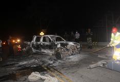 La Pampa: mineros ilegales queman vehículo de fiscalía tras enfrentamiento que dejó un muerto