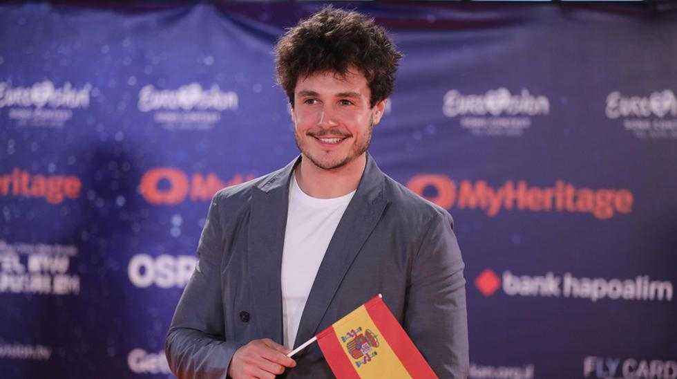 Miki Núñez, de España, en la alfombra naranja de Eurovisión 2019. (Foto: Agencias)