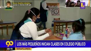 Miraflores: Pequeños regresan a clases en colegio público