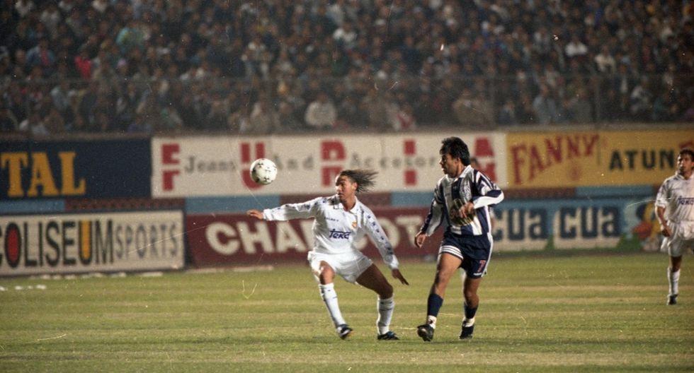 Alianza Lima vs. Real Madrid, amistoso de 1996. (Foto: Archivo El Comercio)
