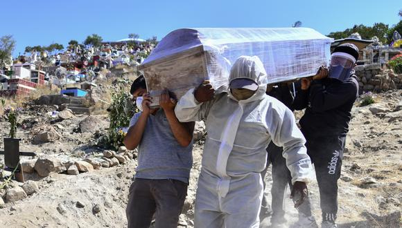 Número de muertes y contagios por COVID-19 en Perú continúa en aumento. (Foto: Diego Ramos / AFP)