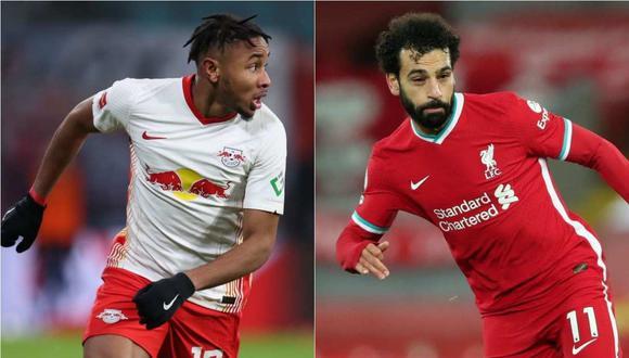 Leipzig vs. Liverpool se miden en los octavos de final de la Champions League. (Foto: AFP)