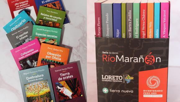 La colección Río Marañón es la primera de tres series que reúne a autores contemporáneos de la Amazonía. está compuesta por 10 libros de autores como Miguel Donayre, Jorge Nájar y Paco Bardales.