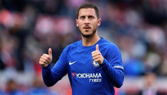 """El tabloide británico """"The Sun"""" informó que la directiva del Real Madrid tiene como prioridad la incorporación de Eden Hazard. La suma que se pagaría por su carta pase es un escándalo. (Foto: AFP)"""