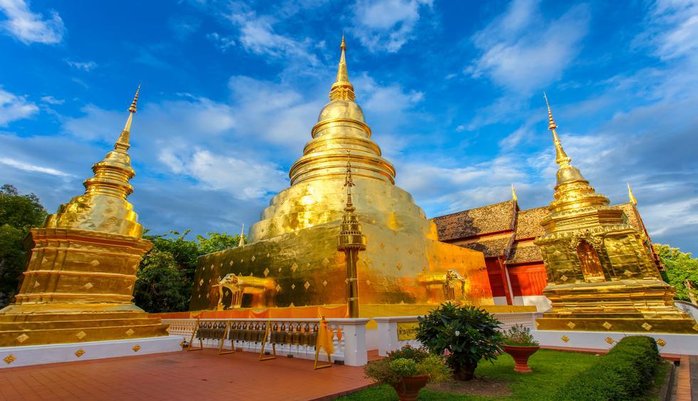 9 a.m. Espacio Sagrado: En la sala de oración del templo Wat Phra Singh, construido en 1345, admira la réplica del Buda Esmeralda. (Foto: Shutterstock).