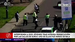 Surco: detienen a dos delincuentes tras intensa persecución
