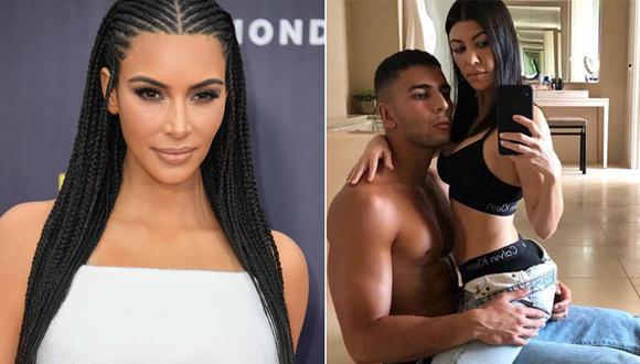 Kim Kardashian, Younes Bendjima y Kourtney Kardashian. (Foto: Instagram)