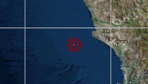 Sismo de magnitud 3,9 se registró a las 14:17 p.m. de este martes (Foto: IGP)