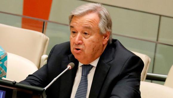 El secretario general de la ONU, Antonio Guterres, durante una comparecencia en Nueva York. (Foto: EFE/ Peter Foley ARCHIVO)