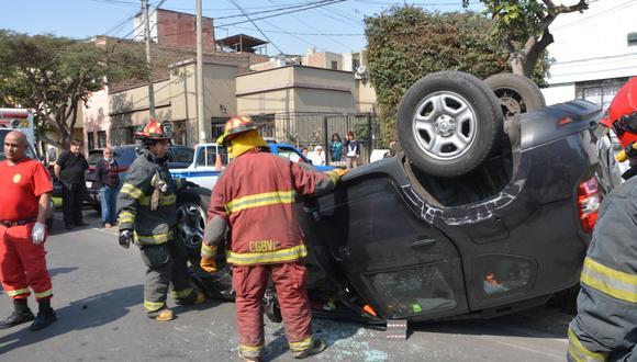 Aún se desconoce las causas exactas del accidente vehicular. (Foto: Difusión)