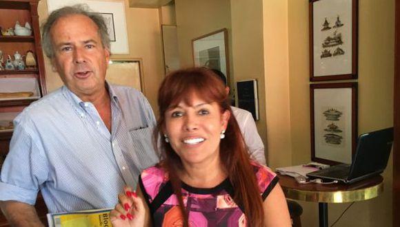 Magaly y la foto de su encuentro con Alfredo Barnechea