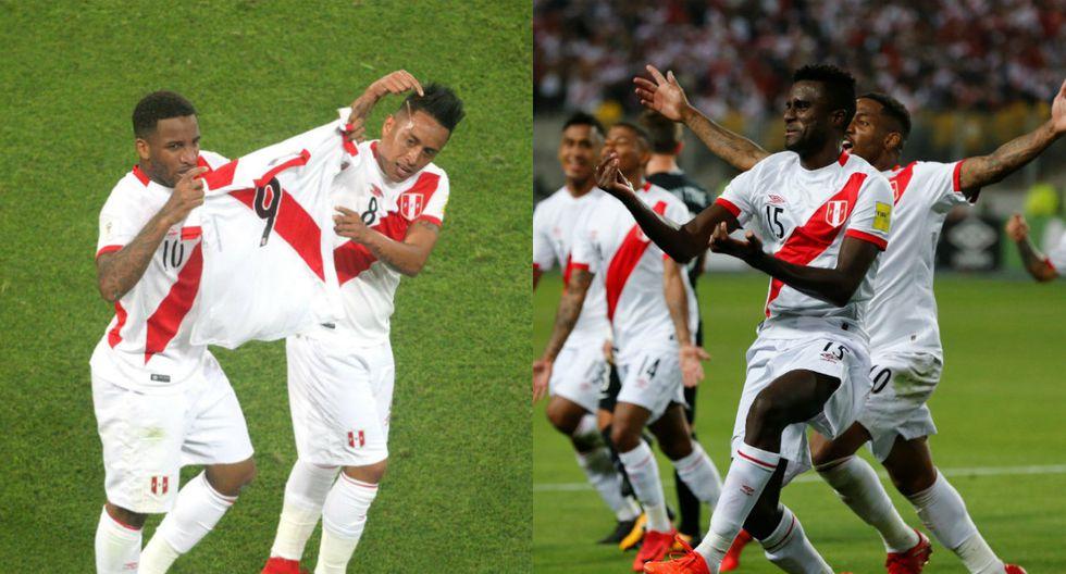 Jefferson Farfán y Christian Ramos celebrando sus goles (Fuente: Agencias)