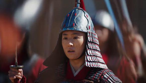 """Yifei Liu es """"Mulan"""" enj la película dirigida por Niki Caro. Foto: YouTube/ Disney."""