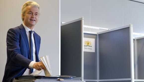 Holanda: Wilders vota y promete referéndum contra la UE si gana