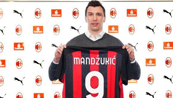 Mario Mandzukic jugará con el AC Milan hasta el final de temporada | Foto: @acmilan