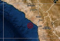 Tacna: sismo de magnitud 4 se reportó en Jorge Basadre, señala IGP